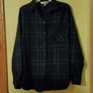 Old Navy The Classic Shirt Flannel, size S, EUC